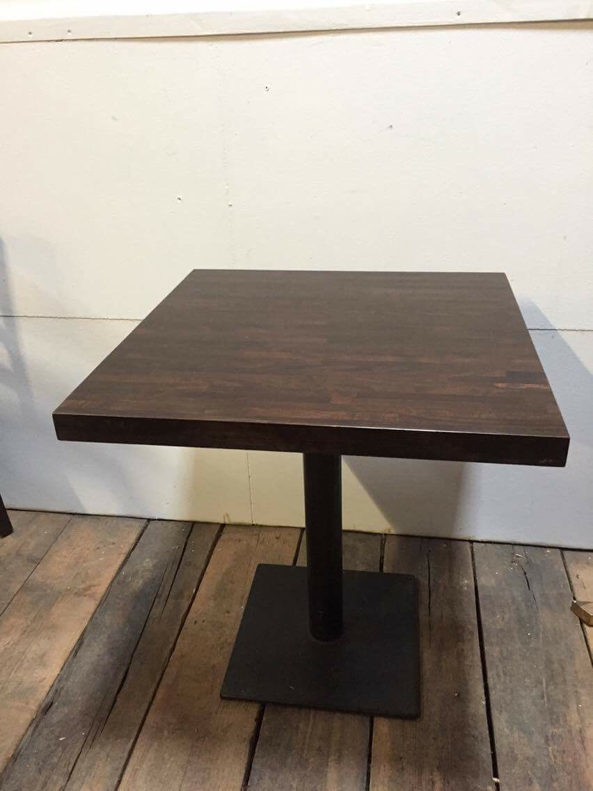 Restaurant table 70cm x 70cm pub kit for Table cuisine 70 x 100
