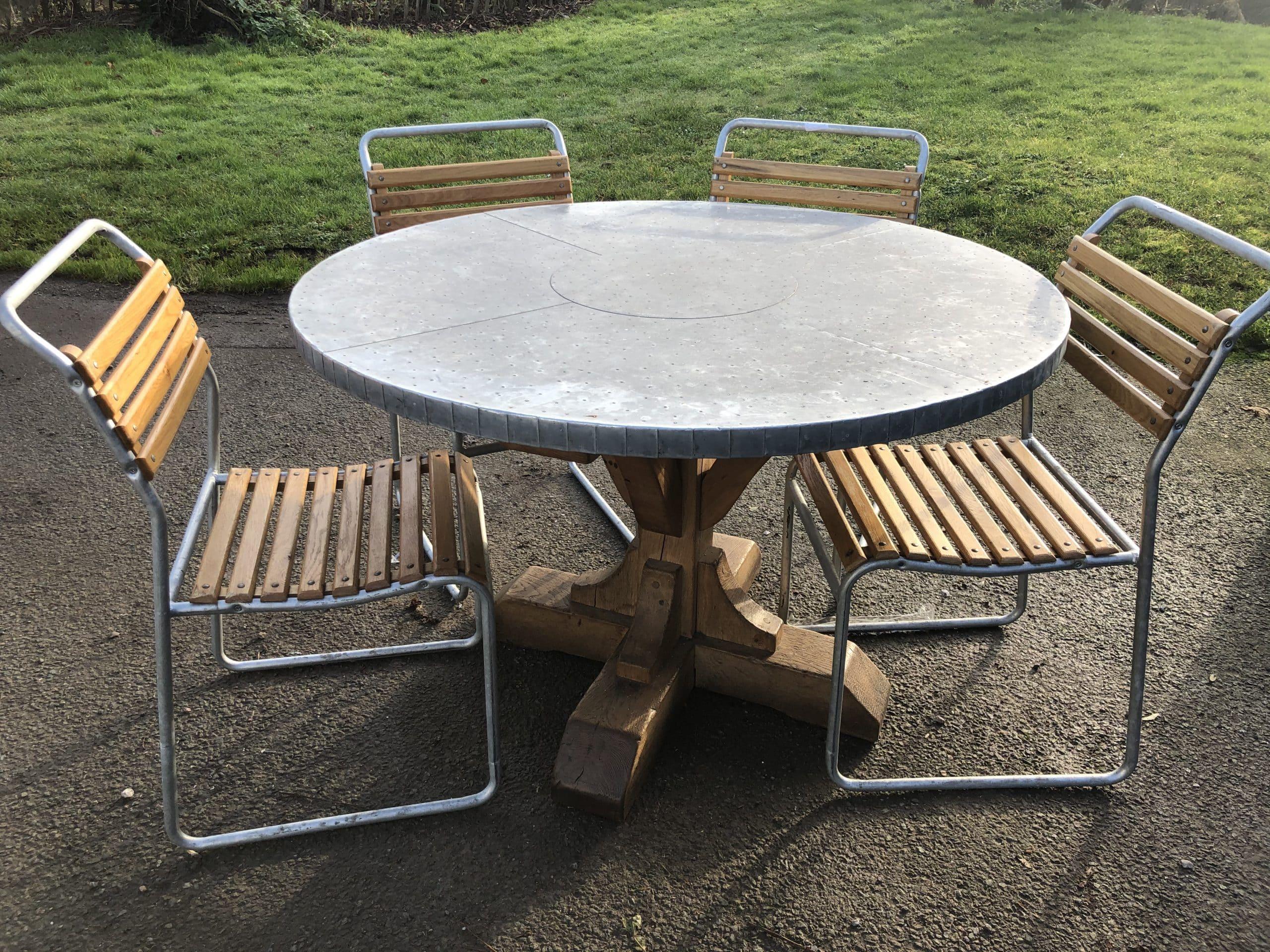 Zinc Dining table - Pub Kit